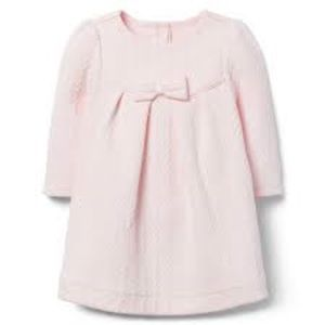 Janie and Jack pink quilted dress, 6-12 months